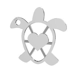 Tortuga colgante, plata 925, LKM-2192 - 0,50 16,3x16,3 mm