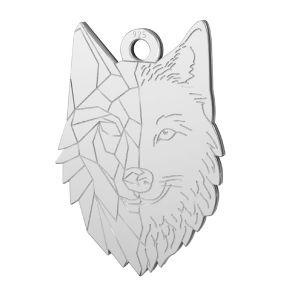 Lobo colgante, plata 925, LKM-2223 - 0,50 14x20 mm