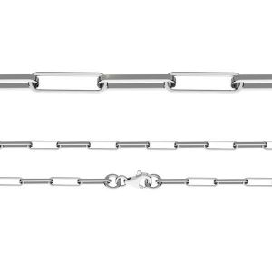 Cadena pulsera de ancla, corte de diamante*plata 925*FIO 100 19 cm