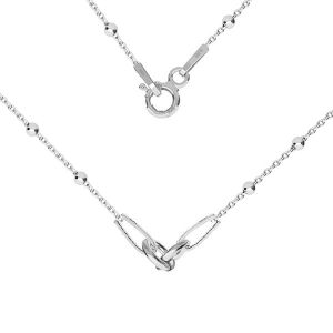 Base de collar, plata 925, S-CHAIN 2 (A 030) - 41 cm