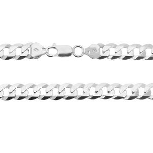 Pulsera cadena de la acera*plata 925*PD 180 6L 19 cm