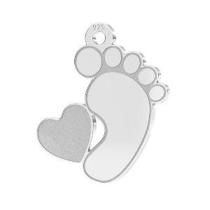 Pies de bebe colgante*plata 925*LKM-2644 - 0,50 13x14,7 mm (2808 mm 6)