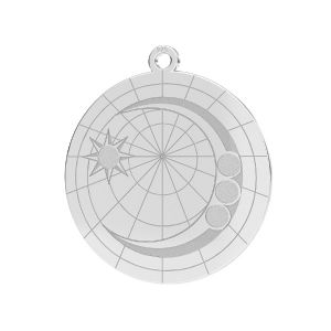 Luna colgante*plata 925*LKM-2625- 0,50 22x23,5 mm
