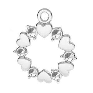 Corazón colgante plata 925, ODL-00812 13,5x15,5 mm