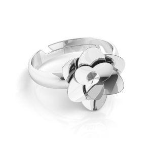 Rosa anillo Swarovski*plata 925*U-RING ODL-00041 11 mm