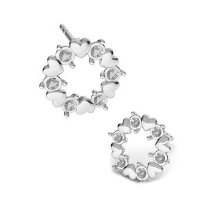 Corazon aretes Swarovski crystals*plata 925*KLS ODL-00811 ver.2 10,8x10,8 mm