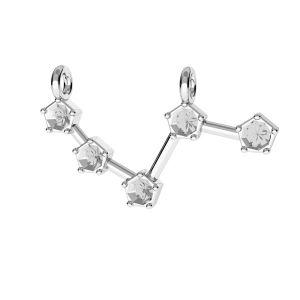 Colgante Aries zodíaco*plata 925*ODL-00636 10x25 mm