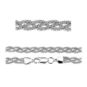 Coreana cadena pulsera*plata 925*PLE CORBD 1,8 3P (18 cm)