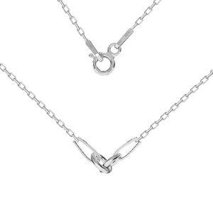 Base de collar, plata 925, CHAIN 52 A 030 PL 2,0 42 cm