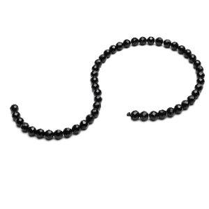 Espinela negra cuentas redondas de piedra 6 MM GAVBARI, piedra semipreciosa