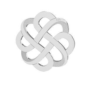 Calado colgante plata 925, LKM-2212 - 05 15,9x15,9 mm