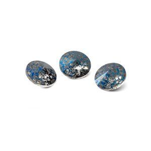 Redondo cristal 8mm, RIVOLI 8 MM GAVBARI METALIC BLUE PATINA
