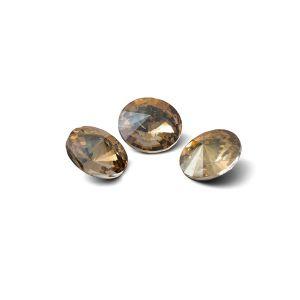 Redondo cristal 8mm, RIVOLI 8 MM GAVBARI IRIDESCENT GOLD
