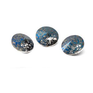 Redondo cristal 10mm, RIVOLI 10 MM GAVBARI METALIC BLUE PATINA