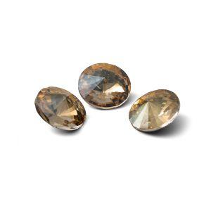 Redondo cristal 10mm, RIVOLI 10 MM GAVBARI IRIDESCENT GOLD