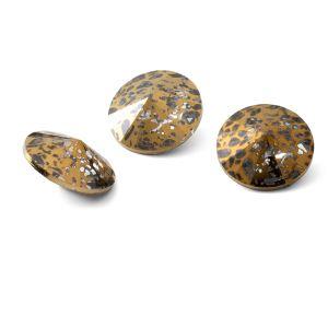 Redondo cristal 12mm, RIVOLI 12 MM GAVBARI GOLDEN PATINA