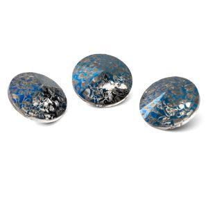 Redondo cristal 12mm, RIVOLI 12 MM GAVBARI METALIC BLUE PATINA