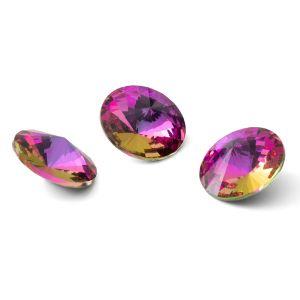 Redondo cristal 12mm, RIVOLI 12 MM GAVBARI PURPLE ROSE