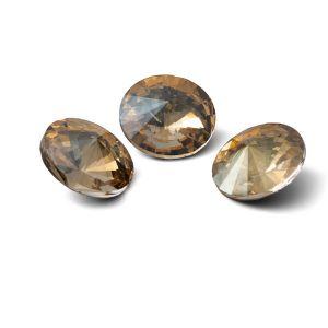 Redondo cristal 12mm, RIVOLI 12 MM GAVBARI IRIDESCENT GOLD