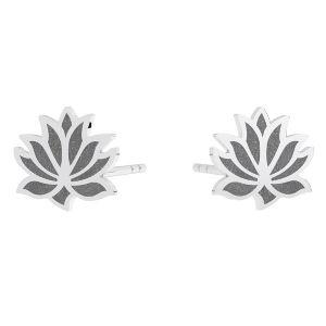 Flor de loto aretes, plata 925, KLS LKM-3002 - 0,50 9x9 mm