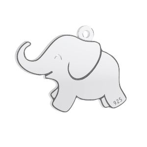 Elefante colgante, plata 925, LKM-3006 - 05 14,5x20 mm