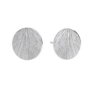 Redondo aretes, plata 925, KLS LKM-3009 - 0,50 10x10 mm