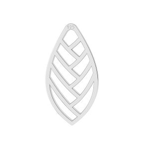 Hoja colgante, plata 925, LKM-2104 - 0,50